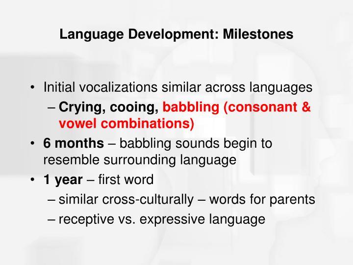 Language Development: Milestones