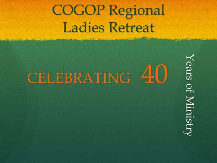 Cogop regional ladies retreat