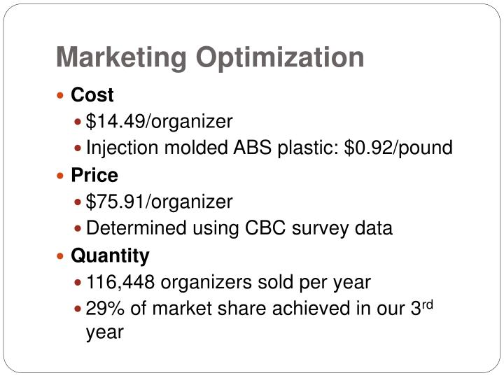 Marketing Optimization