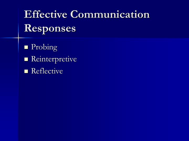 Effective Communication Responses