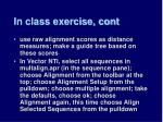 in class exercise cont