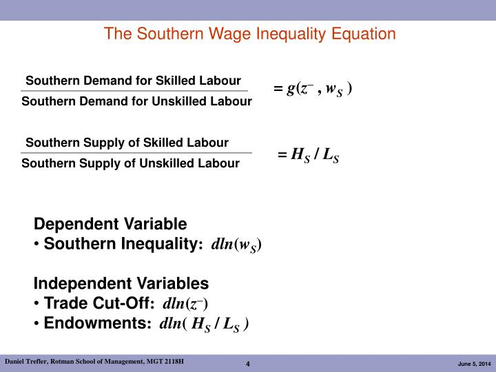The Southern Wage Inequality Equation