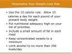 personalize your weight loss plan