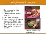 weight gain strategies