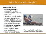 what is a healthy weight4