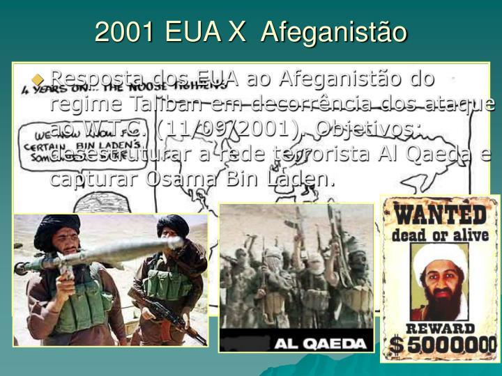 2001 EUA X  Afeganistão