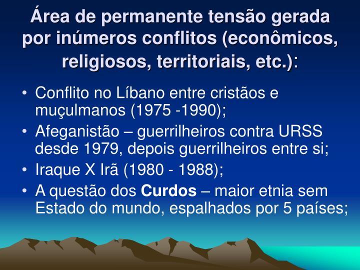 Área de permanente tensão gerada por inúmeros conflitos (econômicos, religiosos, territoriais, etc.)
