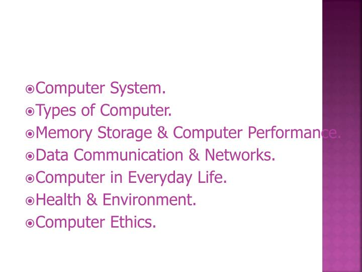 Computer System.
