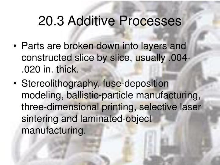 20.3 Additive Processes