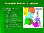 pandemic influenza impacts