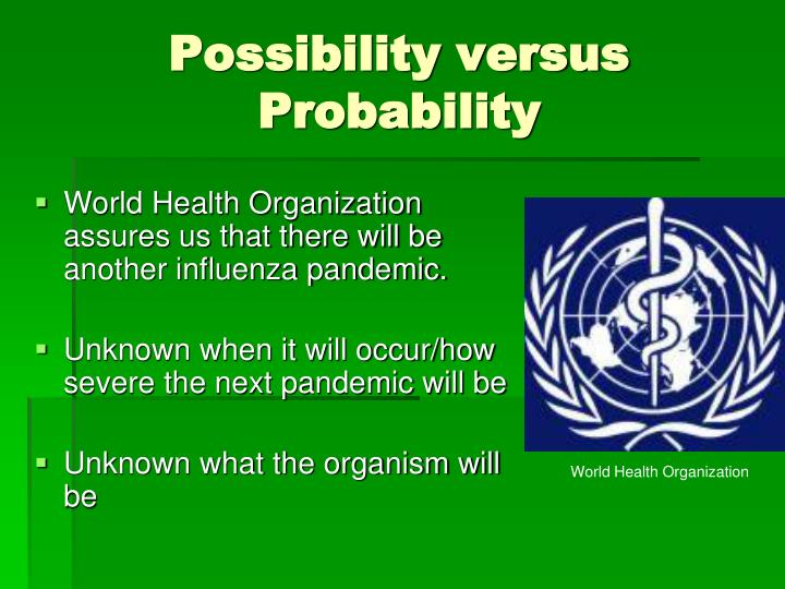 Possibility versus Probability