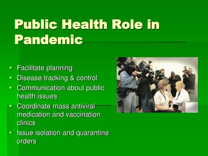 Public Health Role in Pandemic