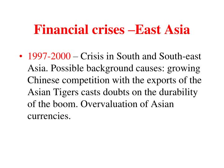 Financial crises –East Asia