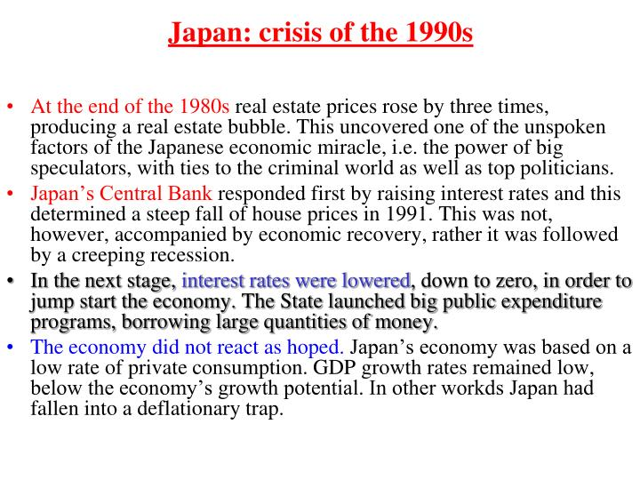 Japan: crisis of the 1990s