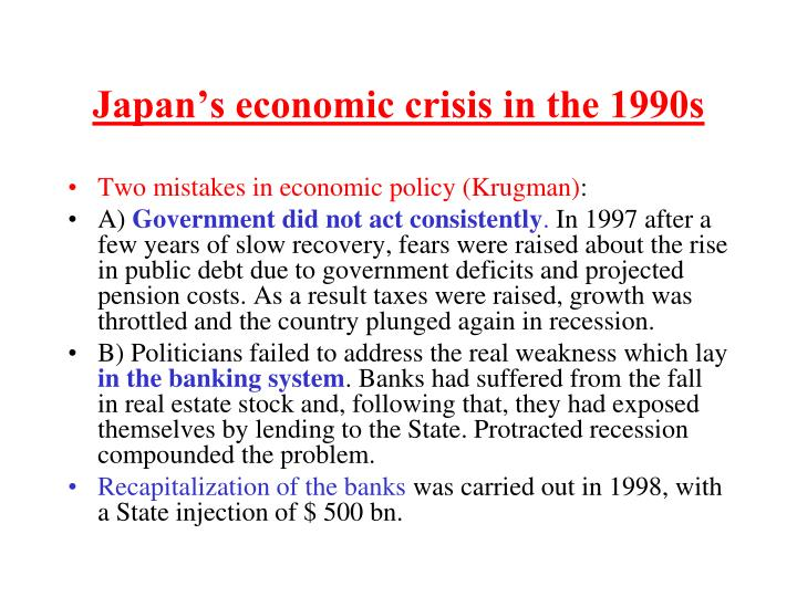 Japan's economic crisis in the 1990s