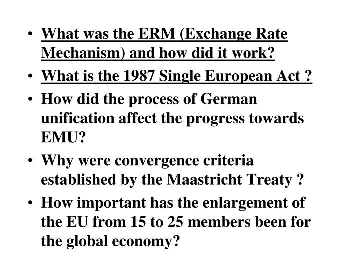 What was the ERM (Exchange Rate Mechanism) and how did it work?