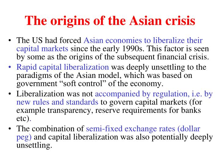 The origins of the Asian crisis