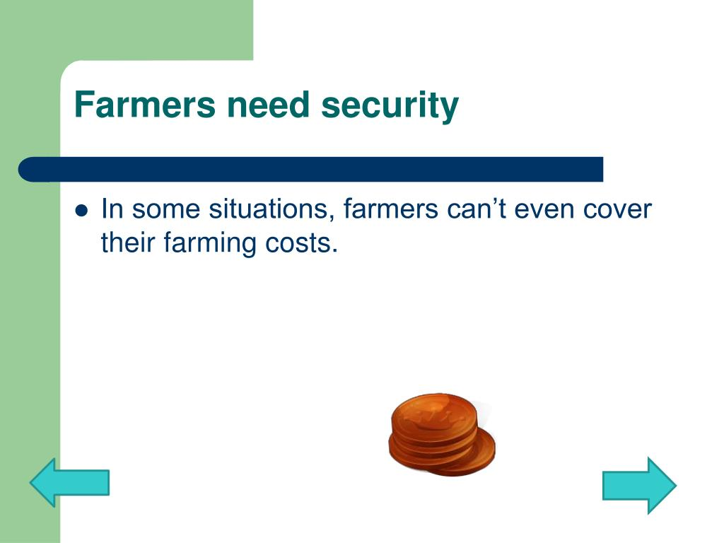 Farmers need security