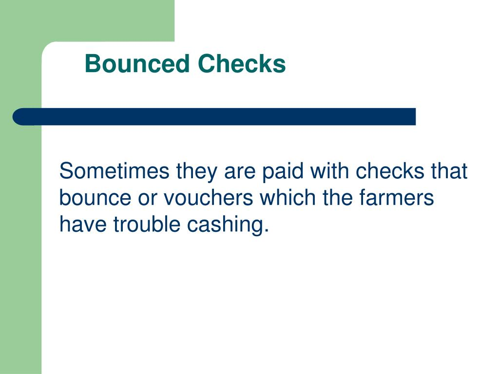 Bounced Checks