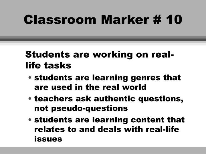 Classroom Marker # 10