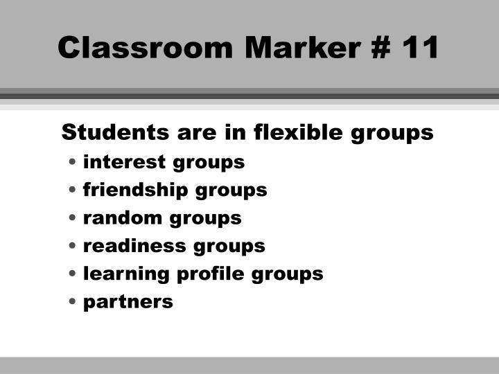 Classroom Marker # 11