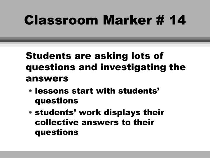 Classroom Marker # 14