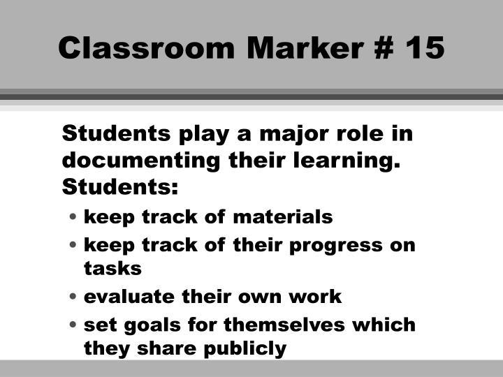 Classroom Marker # 15