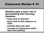 classroom marker 15