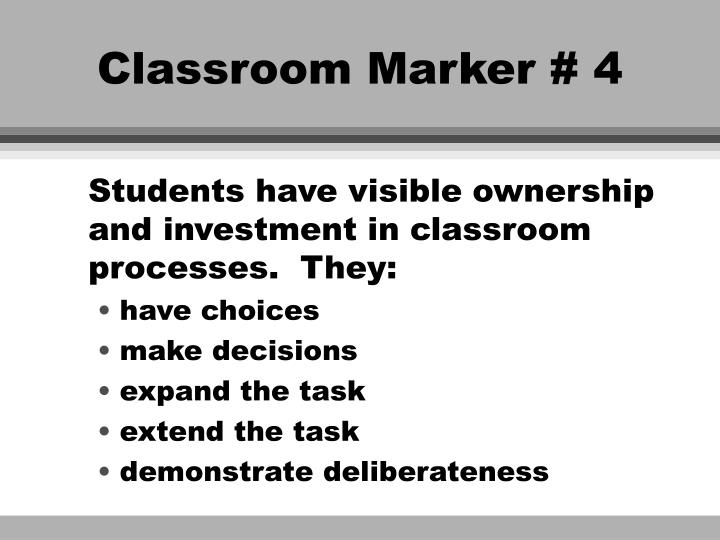 Classroom Marker # 4