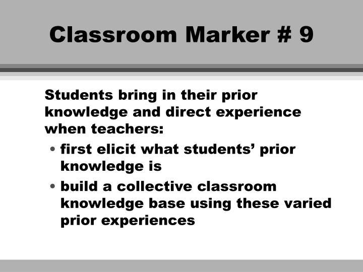 Classroom Marker # 9