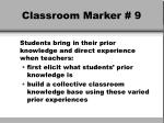classroom marker 9