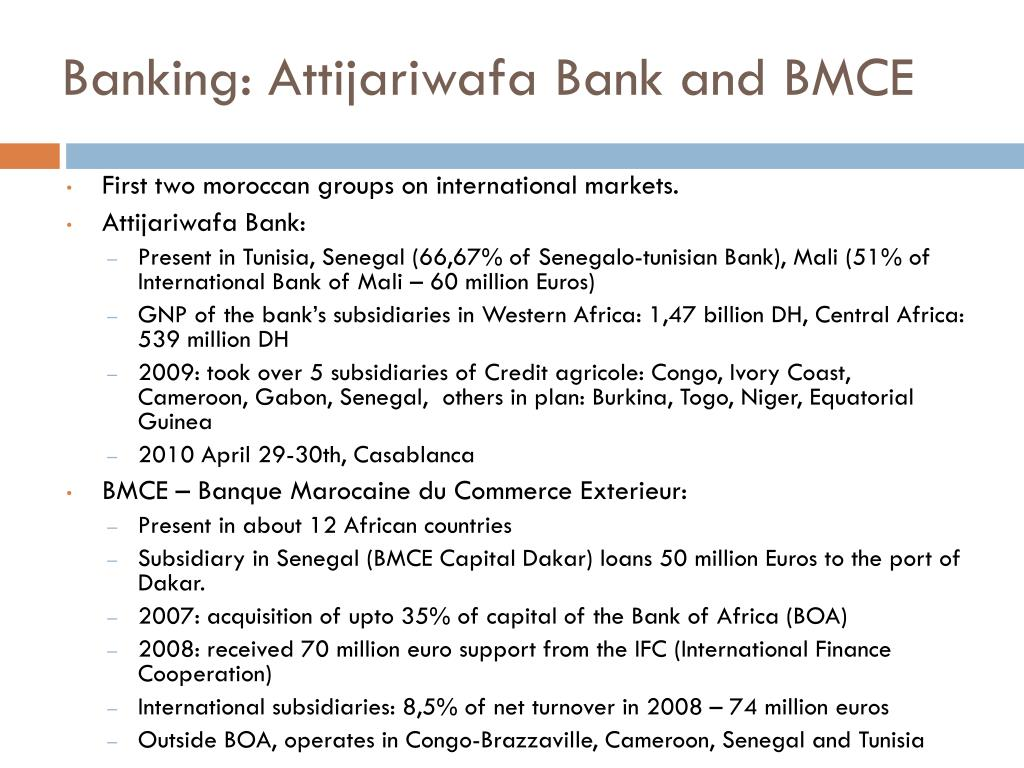 Banking: Attijariwafa Bank and BMCE