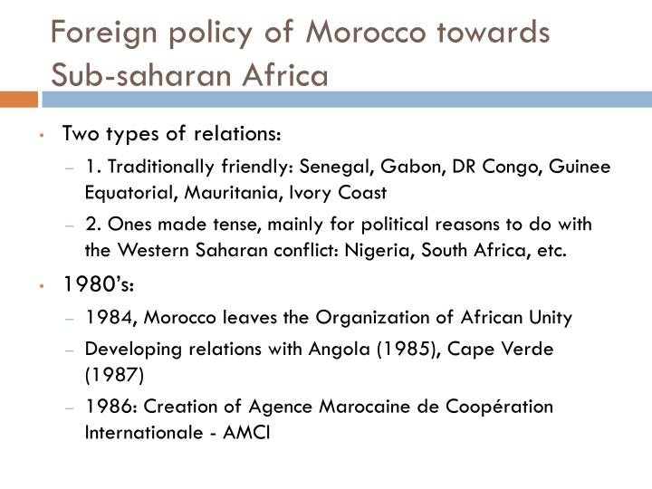Foreign policy of morocco towards sub saharan africa l.jpg