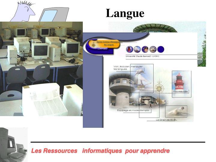Les Ressources   informatiques  pour apprendre