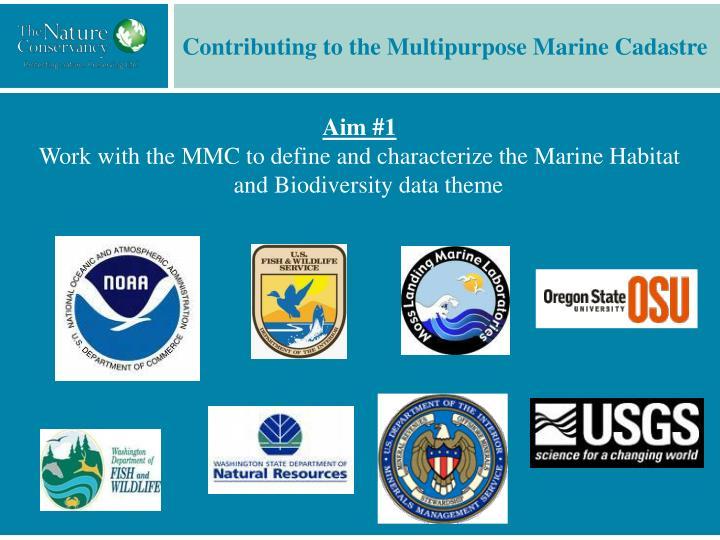 Contributing to the Multipurpose Marine Cadastre