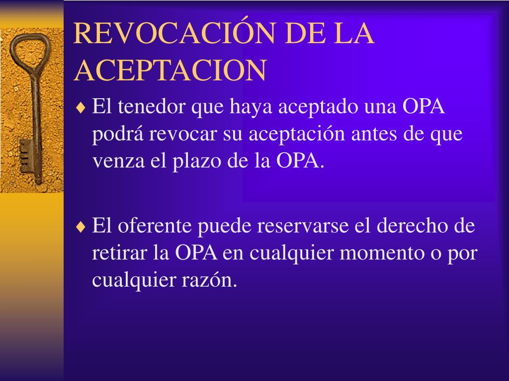 REVOCACIÓN DE LA ACEPTACION