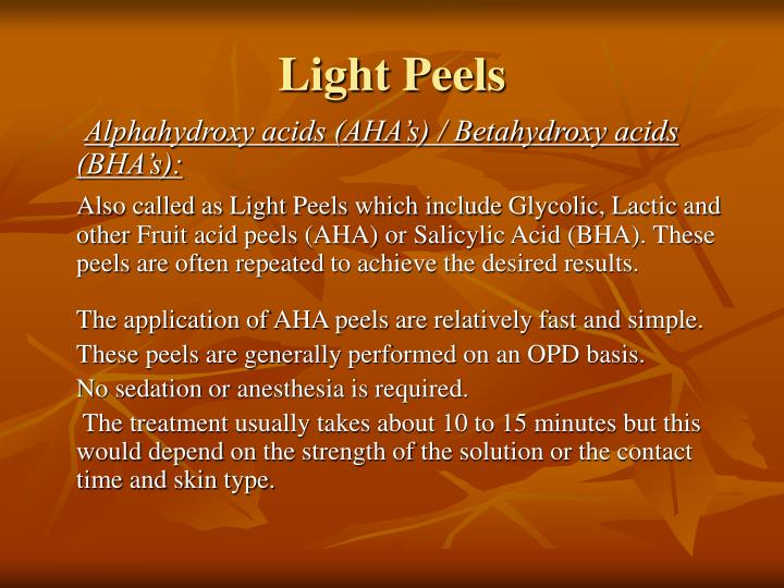 Light Peels