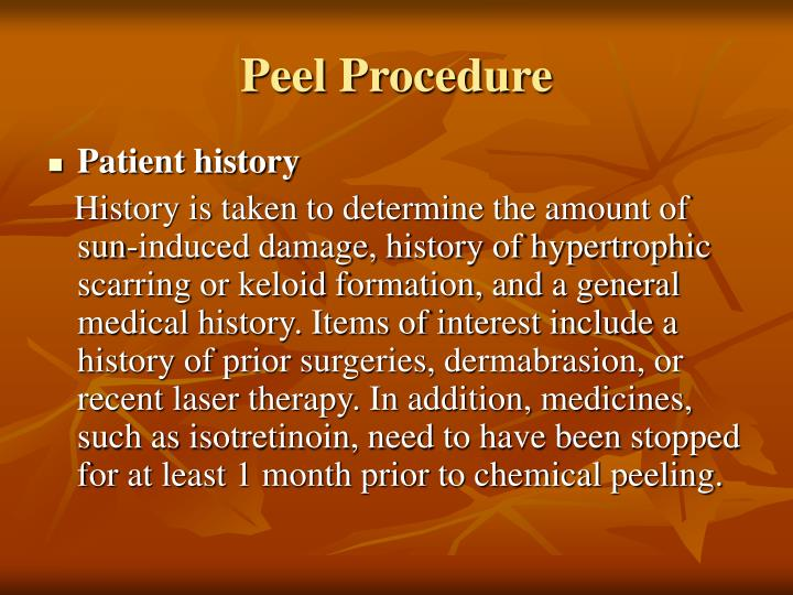 Peel Procedure