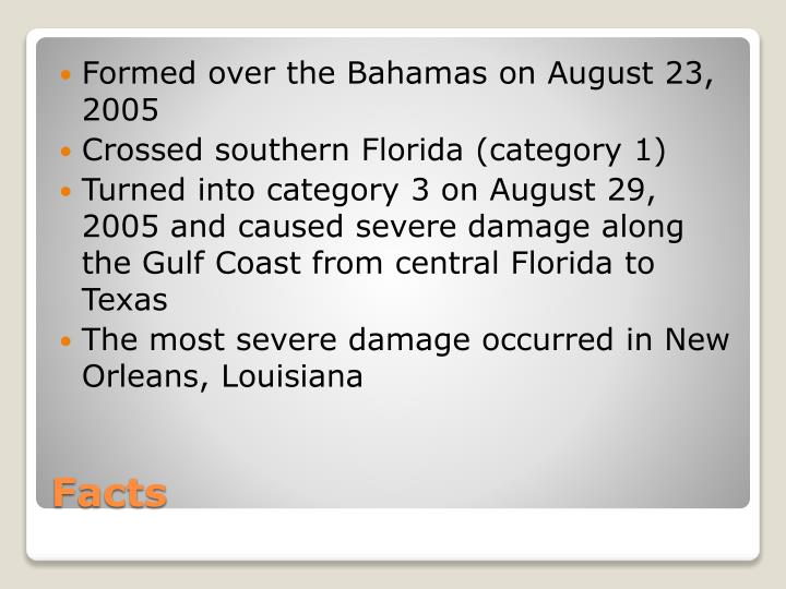 Formed over the Bahamas on August 23, 2005