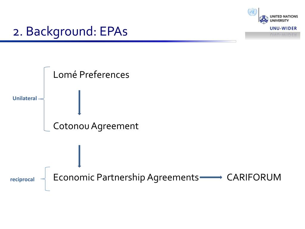 2. Background: EPAs