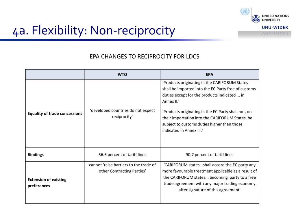 4a. Flexibility: Non-reciprocity