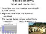 political economy ritual and leadership
