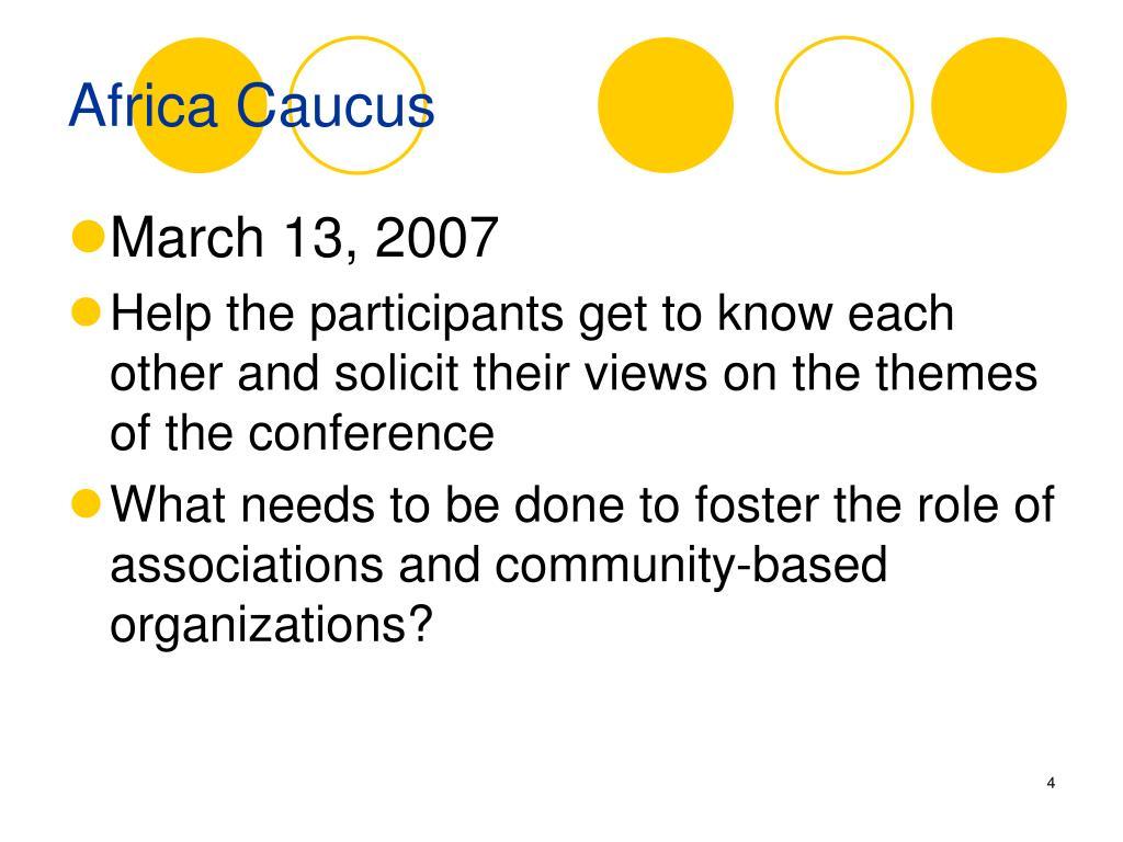 Africa Caucus