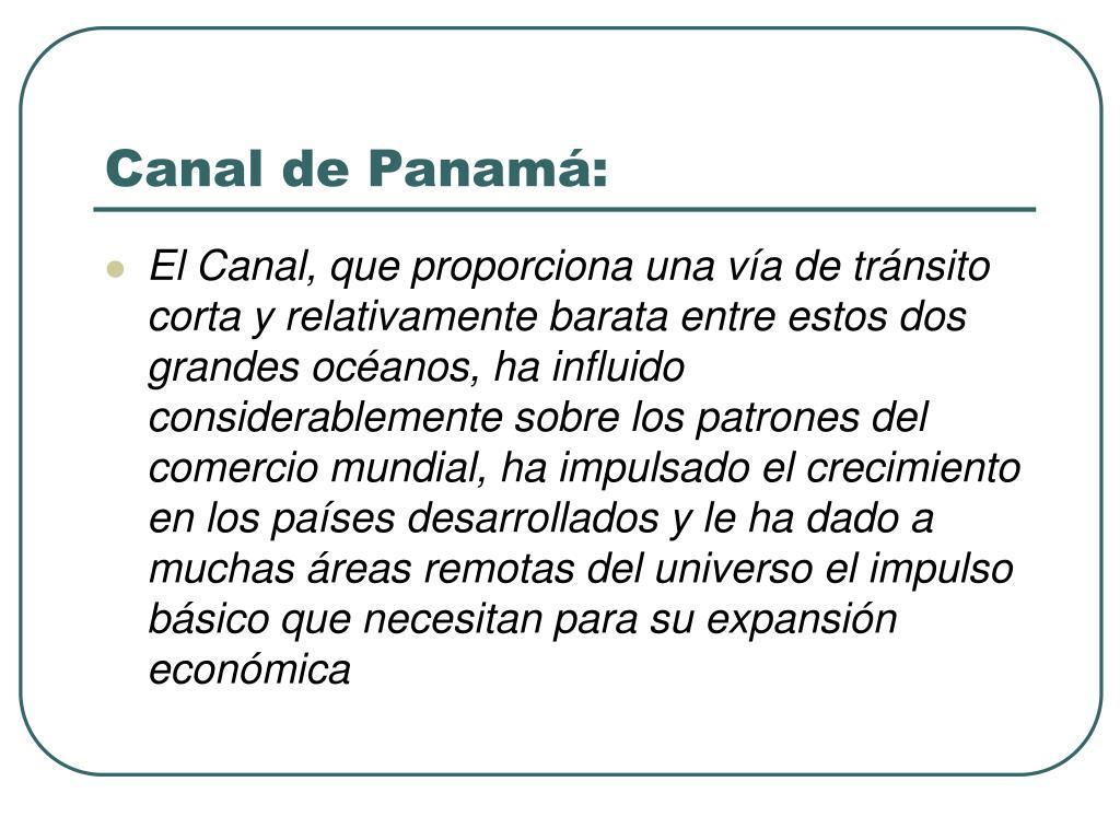 Canal de Panamá: