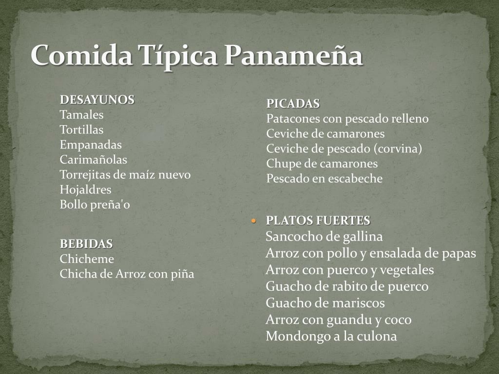 Comida Típica Panameña