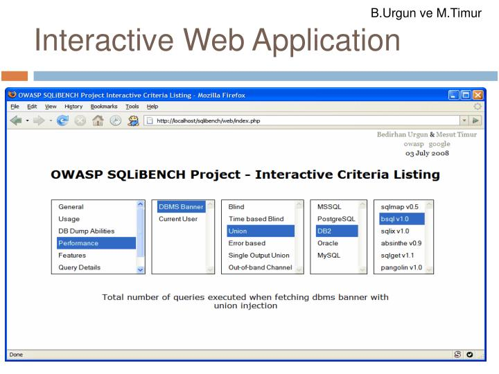 Interactive Web Application