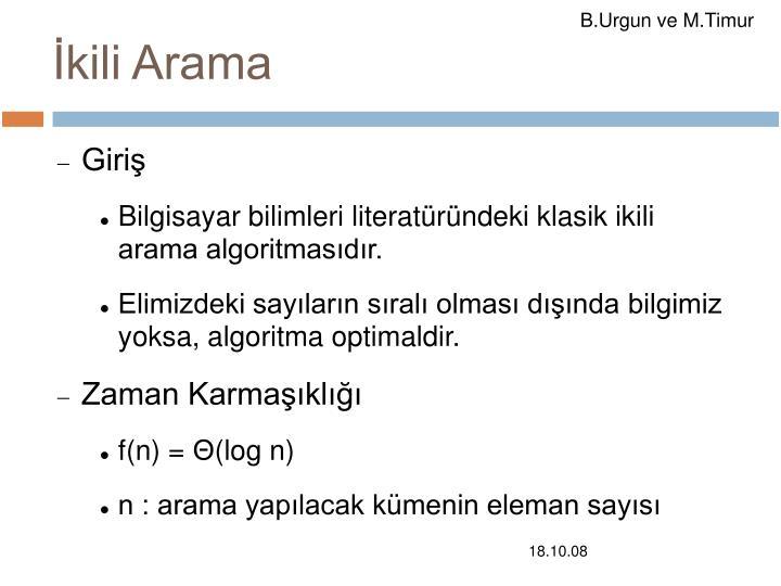 İkili Arama