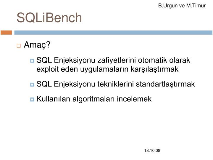 SQLiBench