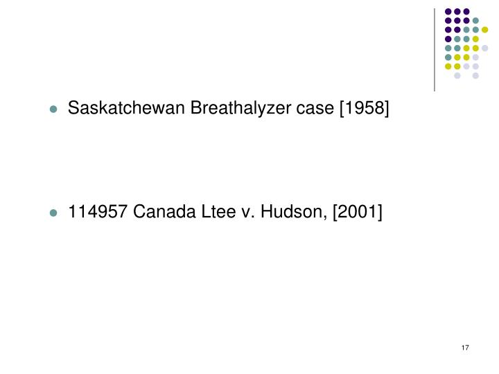 Saskatchewan Breathalyzer case [1958]
