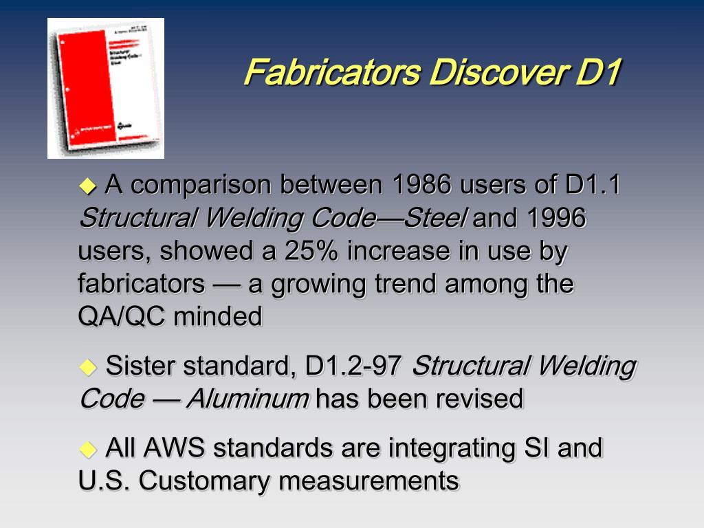 Fabricators Discover D1